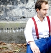 Bordeaux suspenders with clips or buttons and full grain leather links