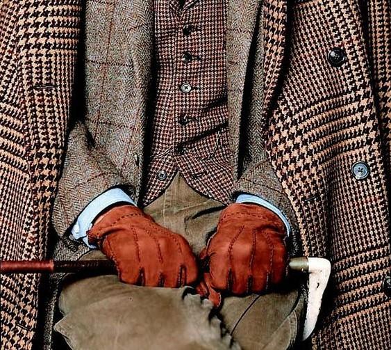 Accessoires pour homme gants en cuir véritable camel