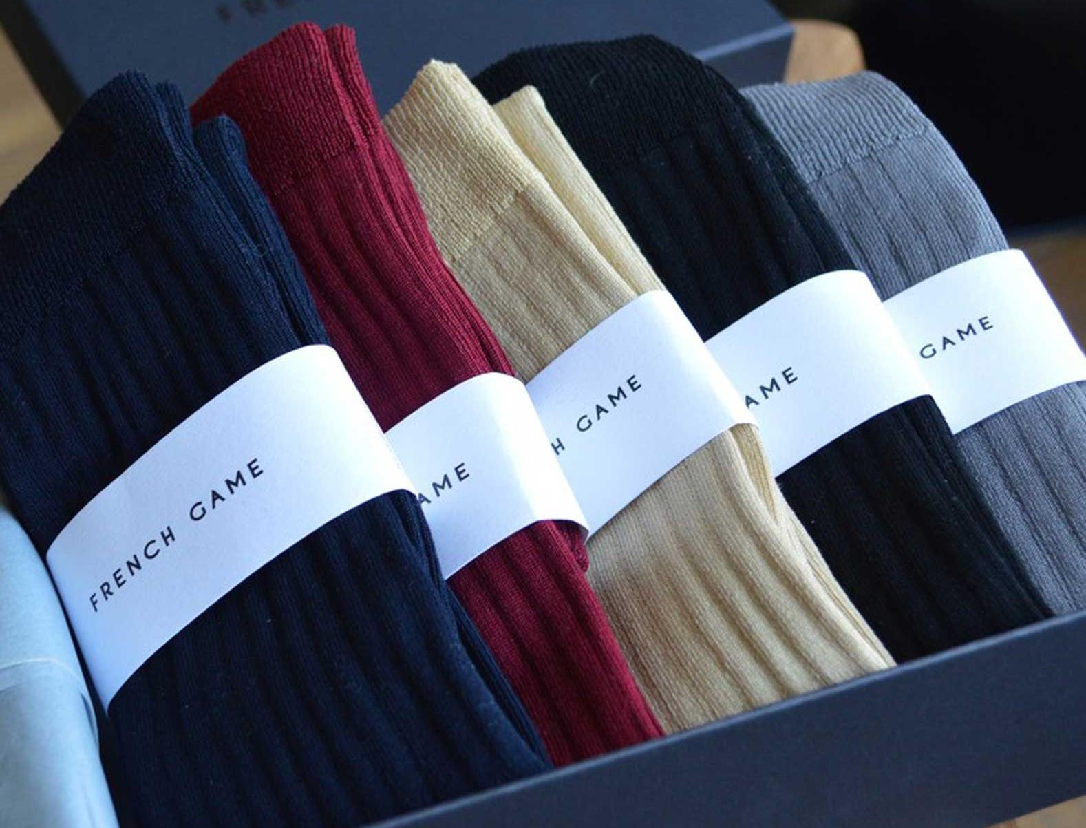 Coffret de chaussettes montantes en fil d'Ecosse made in France