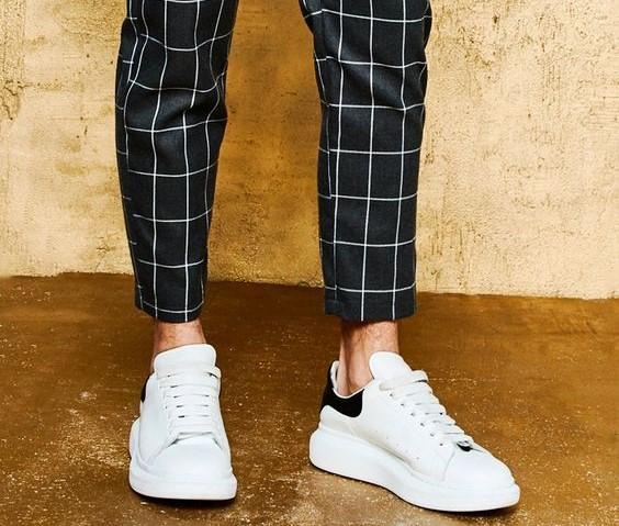Pantalon à carreaux homme coupe slim